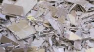 Pile Of Drywall Garbage In A Recycling Center video