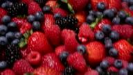 Pile of fresh berries video