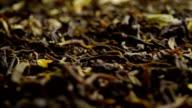 Pile of jasmine green tea. Macro dolly shot video