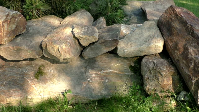 Pile of stacked slabs of stone video
