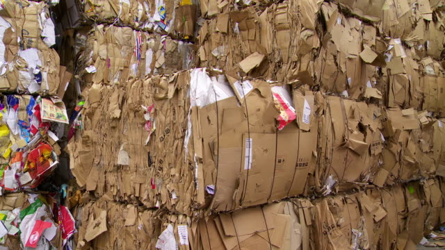 PAN Piles Of Cardboard Waste video