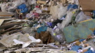 Piles Of Mixed Waste Tilt Up video