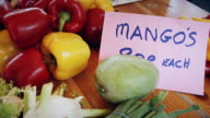 Piles of Vegetables on Market Stall video