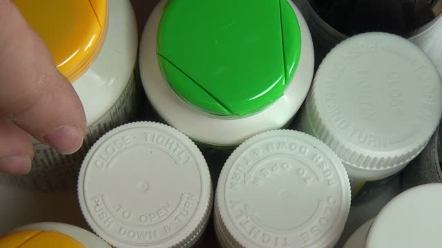 Pill Bottles, Medicine, Drugs, Health video