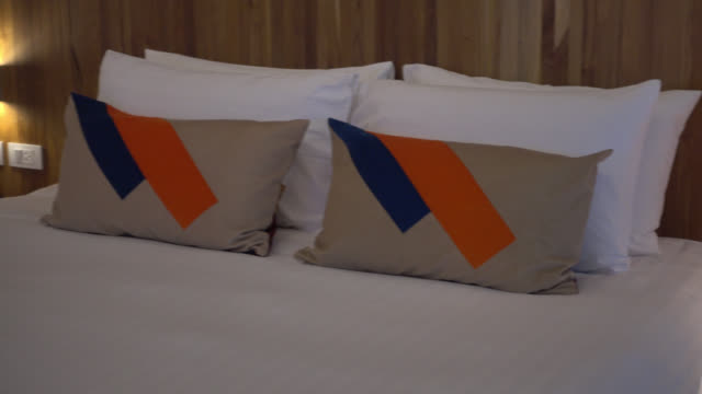 Pillow on bed video