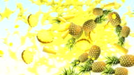 Pineapple Background video