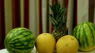 Pineapple, Watermelon and Melon video