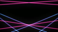 Pink and Blue Laser Loop Isolated video