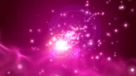Pink background with fractals and light, +HD video