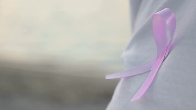 Pink Breast Cancer Awareness Ribbon on a Shirt video