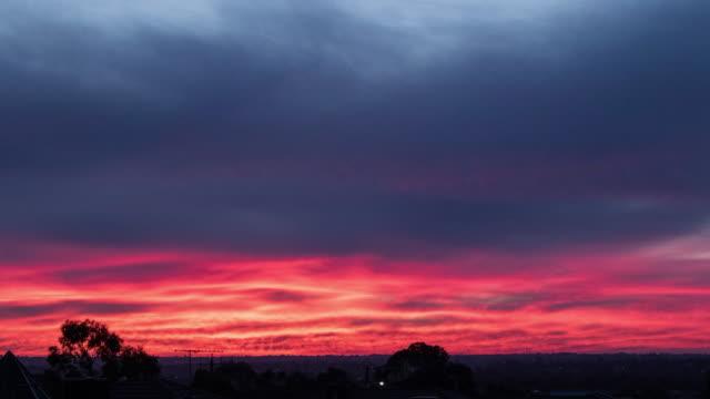 Pink clouds after Sunset timelapse 4k video