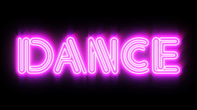 Pink DANCE Neon sign video