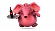 Pink elephant - 3D Animation video