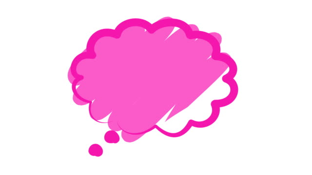 Pink Speech or Chat Bubble video
