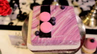Pink Square Cake With Blueberries video