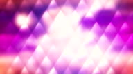 Pink sunset loopable mosaic abstract background video