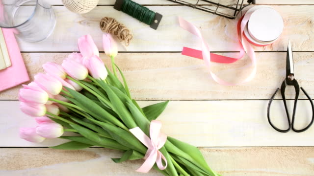 Pink tulips video