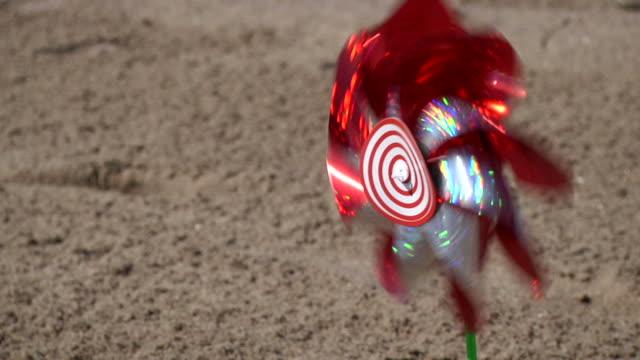 Pinwheel on a beach video