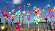 Pinwheels on the beach video
