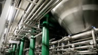 Pipes at a beer factory video