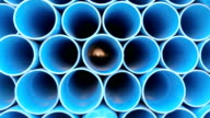PVC pipes for drinking water. video