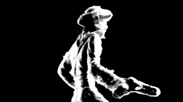 pirate figurine animated with etching video