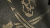 pirate flag closeup render video