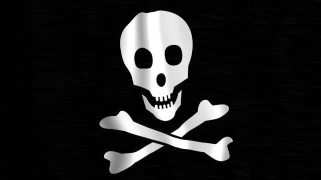 Pirate Flag in Stormy Rain video
