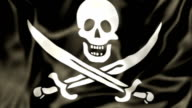 Pirate Flag waving video
