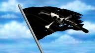 Pirate Jolly Roger Flag Animation video