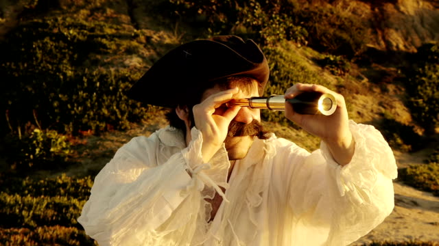 Pirate With Spyglass (HD) video
