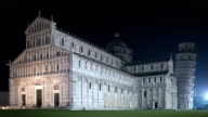 Pisa Cathedral And Leaning Tower By Night video