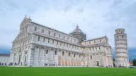 Pisa tower pan tile  time lapse landmark video