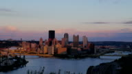 Pittsburgh Day to Night Timelapse video