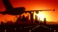Pittsburgh Pennsylvania USA America Skyline Sunrise Landing video