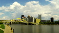 Pittsburgh view - river and downtown video