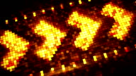 pixelated arrow sign hi-tech loopable background video