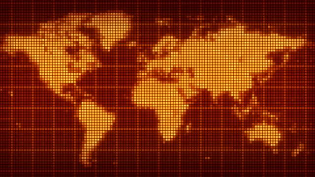 pixelated world map. LOOP video