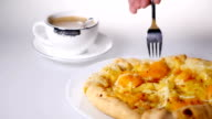 Pizza and coffee video
