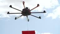 Pizza Arriving via Drone video