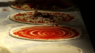 Pizzaiolo Preparing Pizzas Close-up video