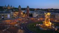 Plaça d'Espanya in Barcelona video