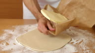 Place butter in centre of dough. Making Puff Pastry Series. video