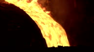 Place from which pours out molten metal video