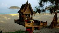 Place Of Buddha Prayer On The Kata Beach, Phuket, Thailand video