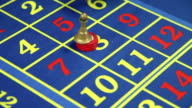 HD CLOSE UP: Placing the bet at roulette video