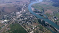 Plains, Sanders County, Montana - Aerial View - Montana, United States video