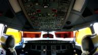 Plane cockpit room video