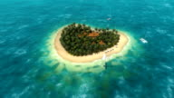 Plane over the heart-shaped island 3 video