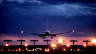 Plane passes overhead video